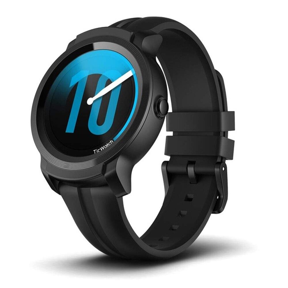 Ticwatch E2 Relógio Inteligente Pulseira Bluetooth Wi-fi Android Desgaste da Aptidão Esportes GPS Relógio Smartwatch 5 ATM À Prova D' Água Swim-Pronto