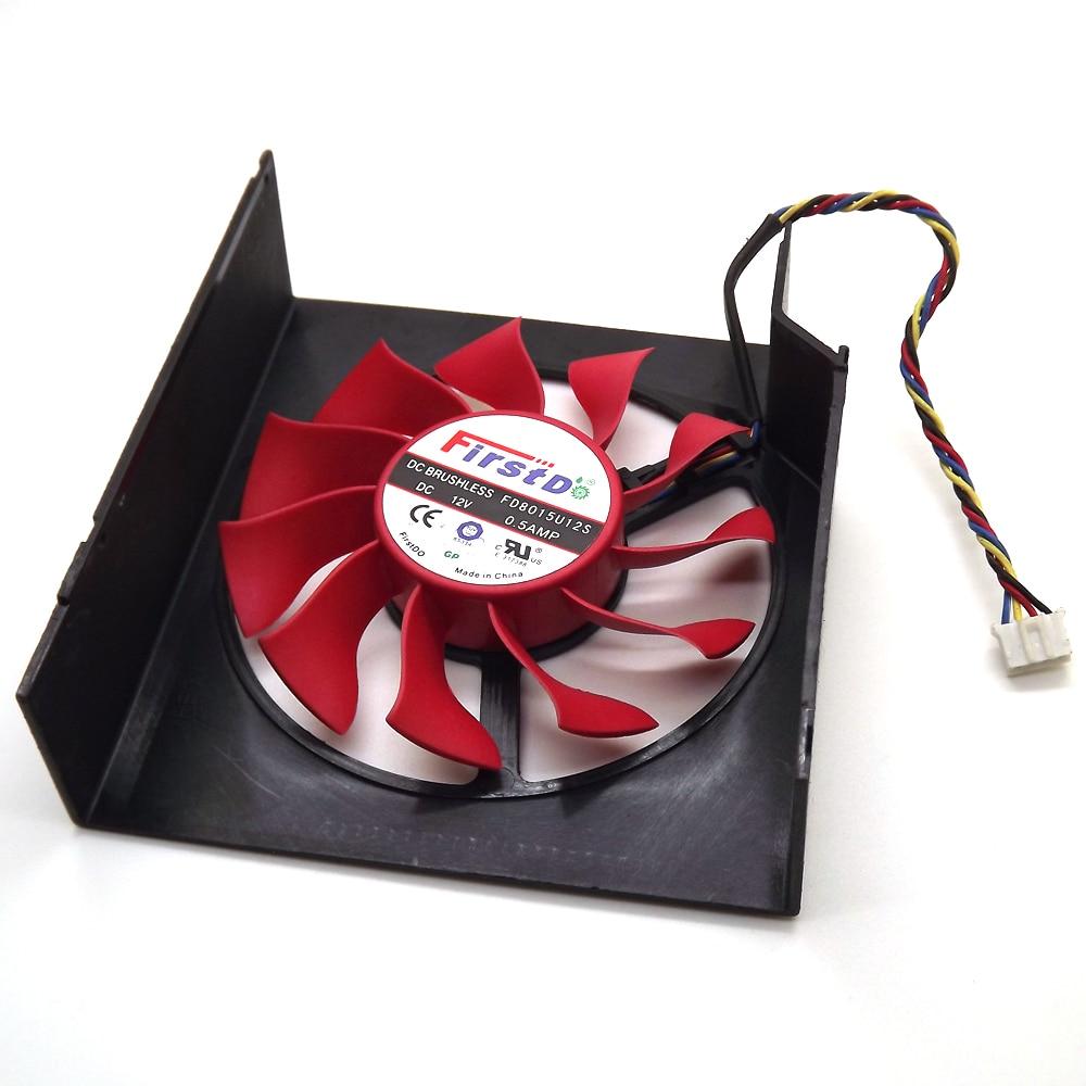 Envío Gratis FD8015U12S 75mm 12V 0.5A 4 Ventilador Enfriador de - Componentes informáticos - foto 5
