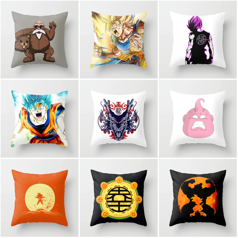 Astonishing Us 2 96 20 Off Fashion Japanese Anime Dbz Print Throw Pillowcase Dragon Ball Z Goku Polyester Cushion Covers Pillow Cover For Couches In Cushion Evergreenethics Interior Chair Design Evergreenethicsorg