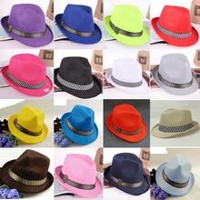 16 Colors Summer fast dry jazz Fedora Hats Outdoor Beach Sun