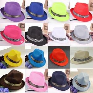 HUDANHUWEI jazz Fedora Hats Gangster Cap hat for men women 0882e74ea523