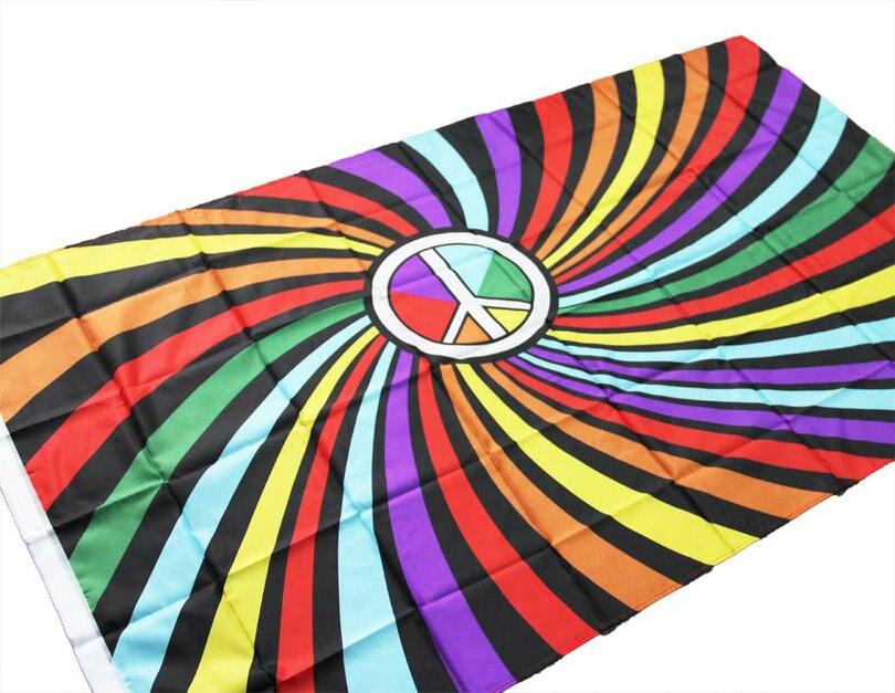 ①Arco Iris bandera interior al aire libre poliéster LGBT Arco Iris ...