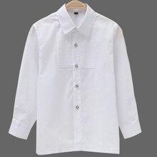 Детские рубашки с длинными рукавами для мальчиков; Одежда для мальчиков; вечерние белые рубашки с длинными рукавами для свадьбы; Детские торжественные рубашки; костюм для выступлений