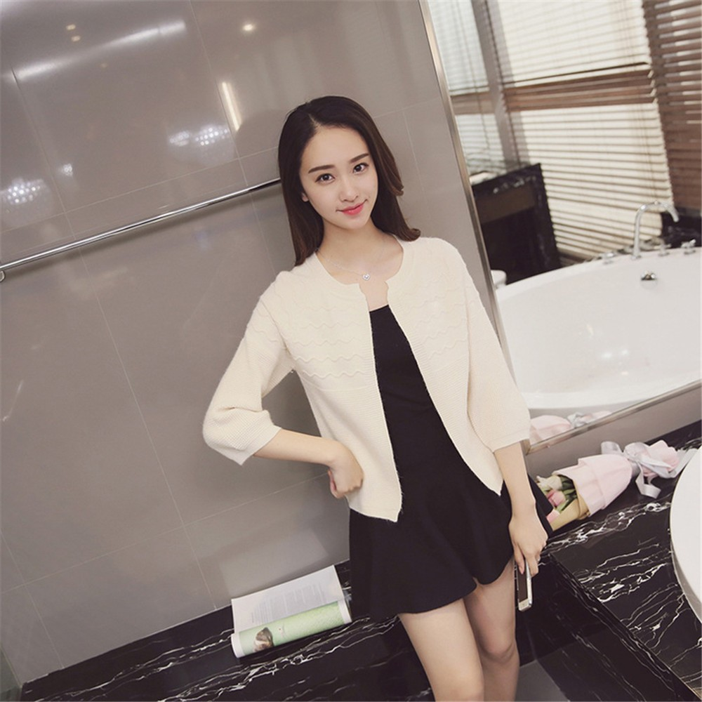 2016 Spring&Autumn Casual Sweater Women Cardigan Sweater Solid Color Open Stitch Women\'s Cotton Knitted Outerwear Sweater (23)