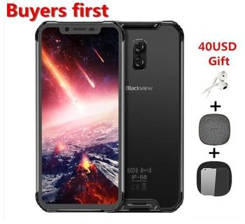 Перейти на Алиэкспресс и купить Смартфон Blackview BV9600 Pro Helio P60, 6 ГБ + 128 Гб, IP68 водонепроницаемый мобильный телефон, экран 6,21 дюйма 19:9 FHD, 5580 мАч, Android 8,1, NFC, 16 МП, 4G