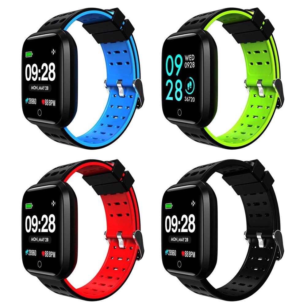 Nouvellement hommes métal carré montre intelligente sport montre-bracelet en plein air bande de Silicone montres cadeaux