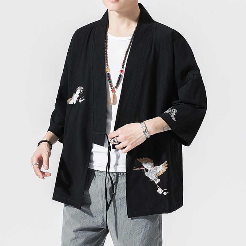 男性デザイナーヴィンテージシャツ繁体字中国語服中国の服唐装トップ春男性シルクの刺繍ジャケット Coa