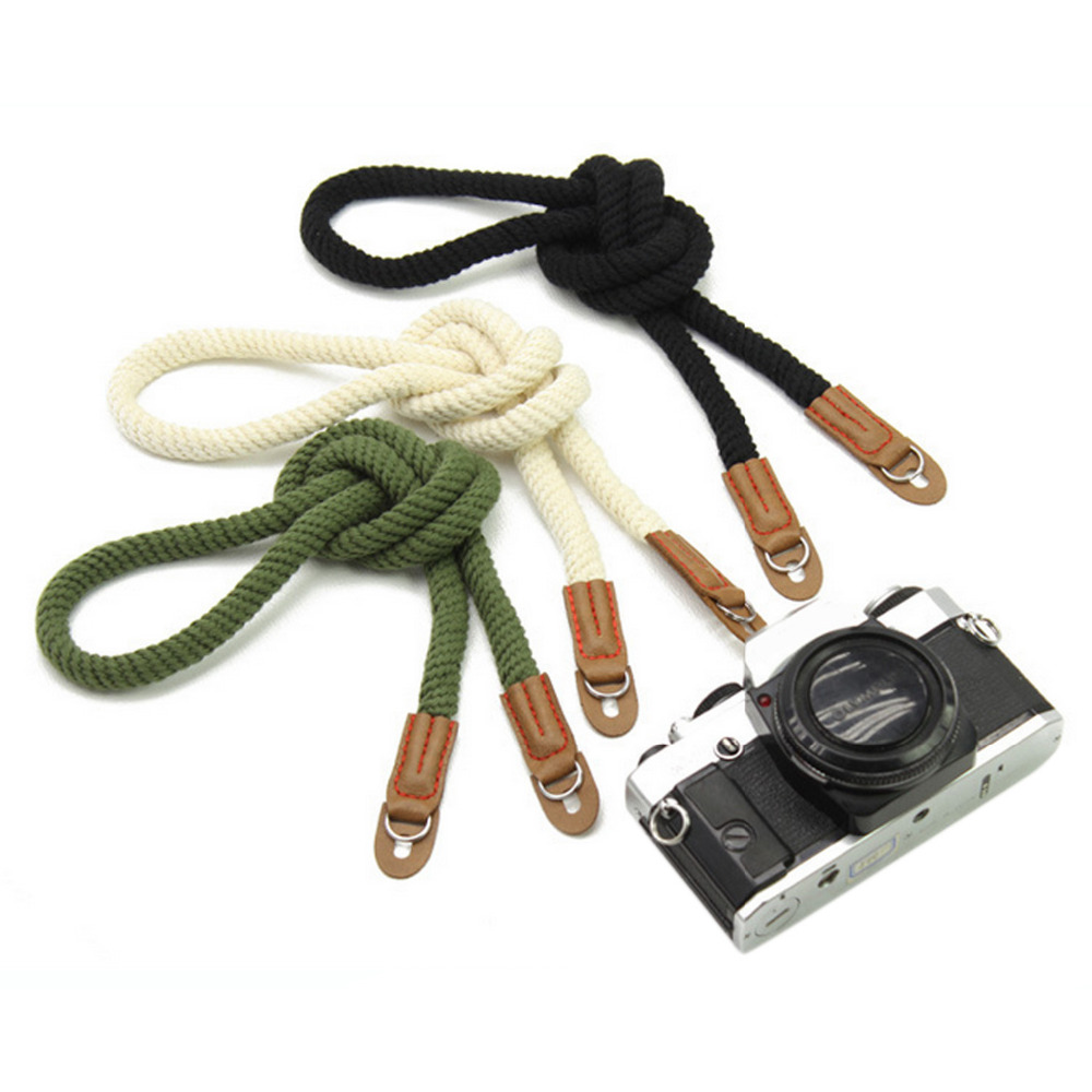 Besegad Handmade Retro Cotton Wrist Strap Camera Hand Belt Wristband for Sony a6000 a5000 5100 Circular Hole Mirrorless Camera image