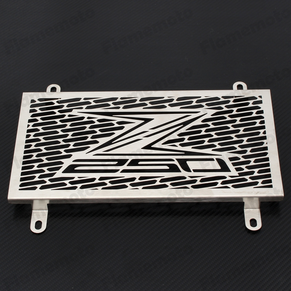 Motorcycle Stainless Radiator Grille Grill Cover Protector Guard Protective For Kawasaki Z250 2013 2014 2015 arashi motorcycle radiator grille protective cover grill guard protector for 2008 2009 2010 2011 honda cbr1000rr cbr 1000 rr
