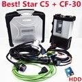 2020 MB SD C5 SD Connect компактный 5 звезд диагностики внешний жесткий диск SSD с ноутбук CF-30 для автомобилей грузовых автомобилей Multi-Langauge Поддержка ...
