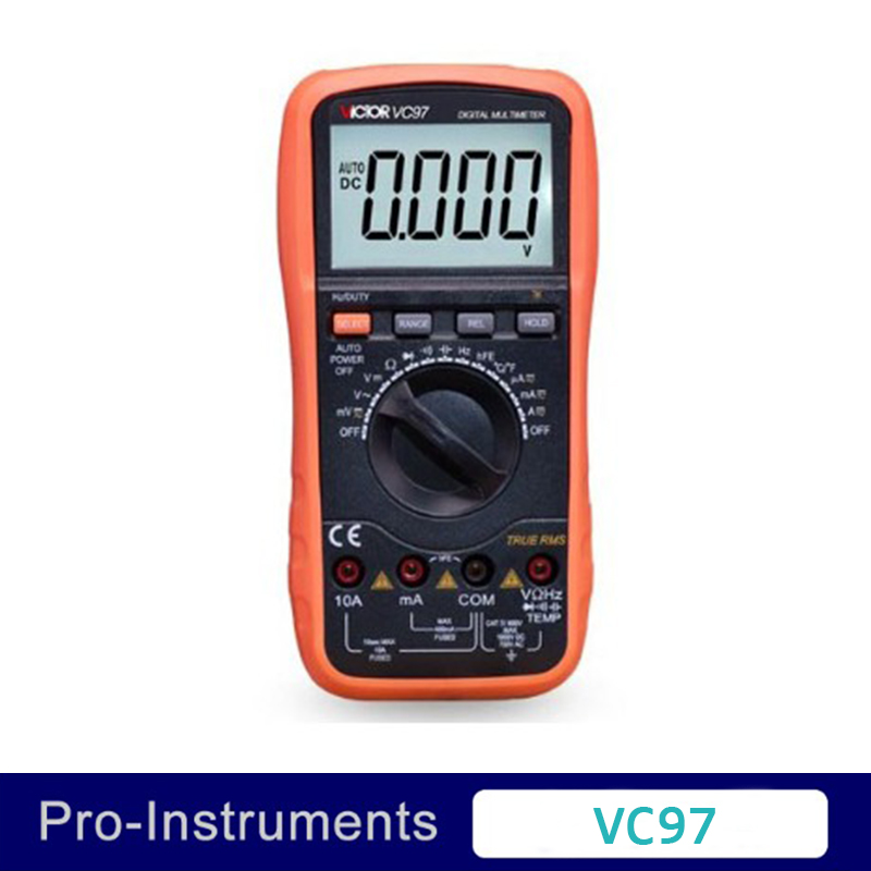 VICTOR VC97 Professional Brand New  3 3/4 3999 Counts Auto Range  Resistance Capacitance Temperature Digital Multimeter digital multimeter victor vc 6056d3 4 auto range temperature test streamline design