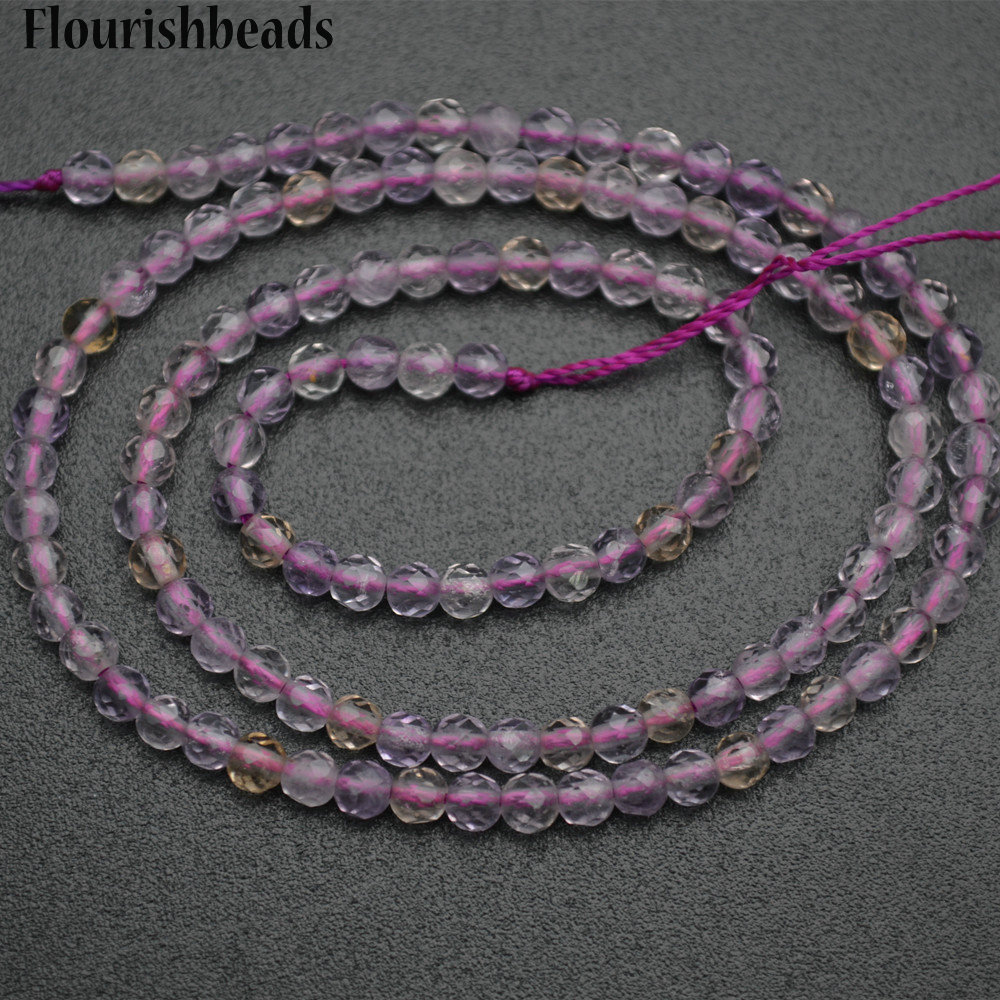 Small Size Beads: 3mm Diamond Cutting Faceted Natural Ametrine Small Size