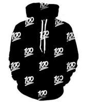 100 Emoji Hoodie Sudadera Impresión 3D Divertido 100 puntos Sudaderas Otoño/Invierno Casual Hip Hop Pullover Streetwear Tops Mujeres/de los hombres