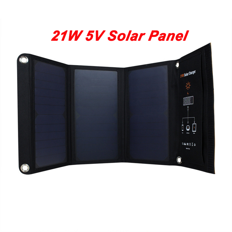 21W 5V Foldable Solar Panel Dual USB Port Solar Cell Charger Outdoor Solar Power Bank For Phones Pad MP4 MP3 Charging Battery 21w outdoor travel folding foldable solar panel battery charger camera mp3 mp4 mobile phone charger solar charge for iphone 8 7