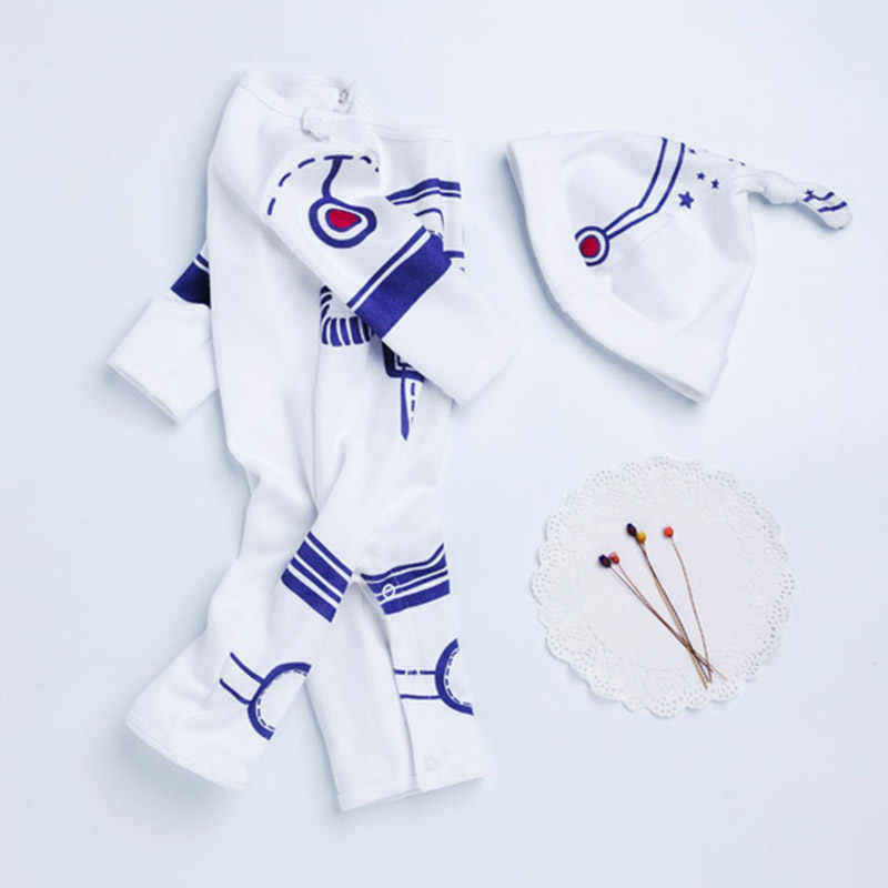 Infant Baby Boy Romper 2pcs Set Astronaut Spacesuit Toddler Boys Jumpsuit Newborn Spring A Clothes Pilot Costume With Caps