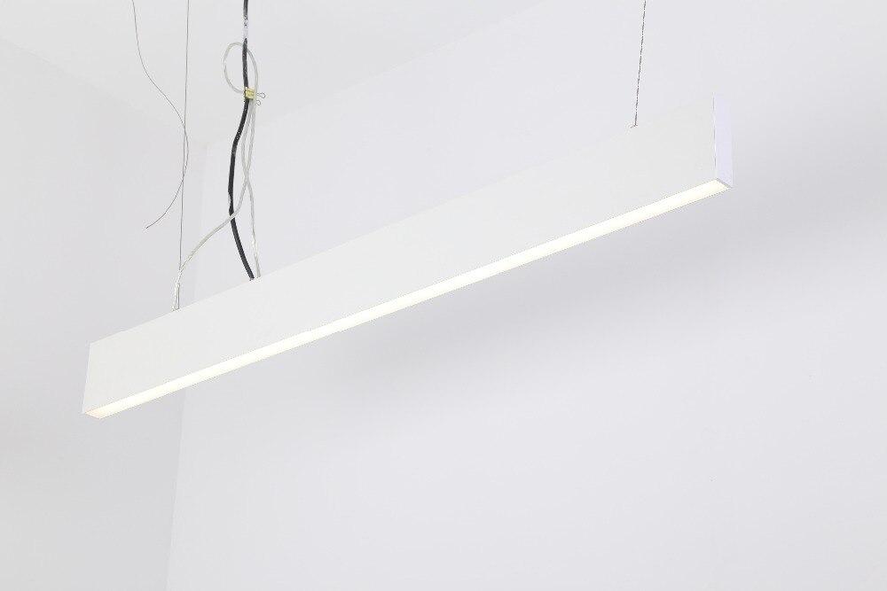 Livraison gratuite salon bureau barre LED linéaire intérieur Linkable sans couture linéaire lampe en vente argent et blanc logement