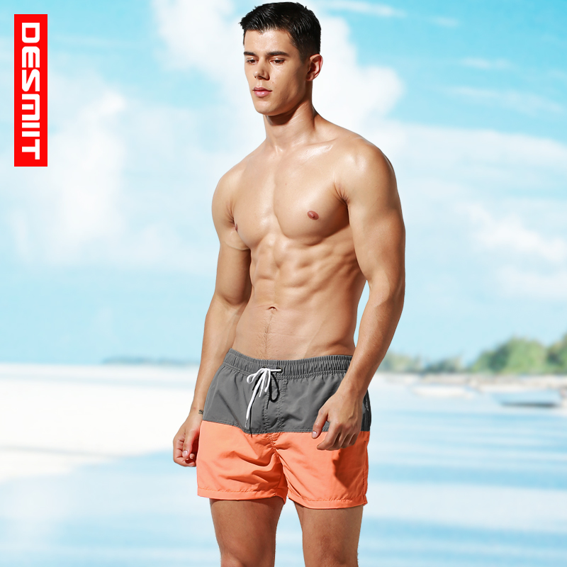 Desmiit Mens   Board     Shorts   Quick Dry Summer Men Beach   Shorts   Swim   Short   Trunk Sea Surf Swimwear Mesh Liner Run Sport Wear