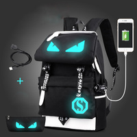 Raged Sheep School Backpack Men Laptop Backpack School Bags Boys Luminous Animation USB Backpack Charge Changeover