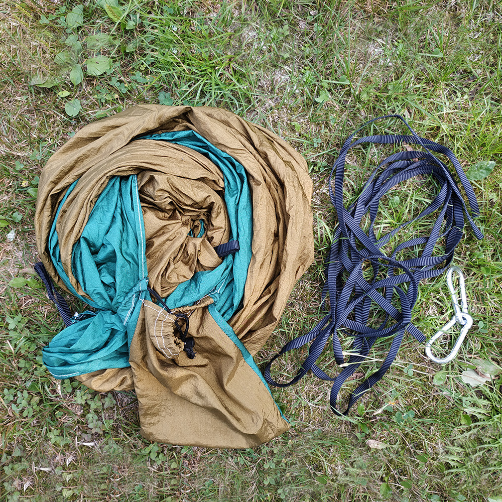 1 Person Parachute Hammock For Single Outdoor Hunting Survival Portable Hamac Garden Yard Patio Leisure Hanging                  1