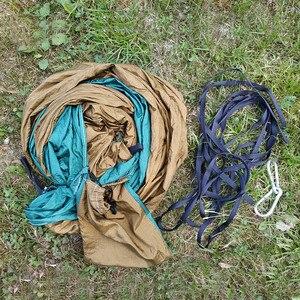 Image 2 - Hamac Parachute, 1 personne, pour une place, pour la chasse en plein air, Hamac de loisirs Portable, pour jardin, cour, Patio
