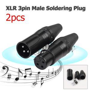 Image 5 - 1 Pair XLR 3Pin Male Female DIY Audio Cable Plug Mic Connectors Solder Plug