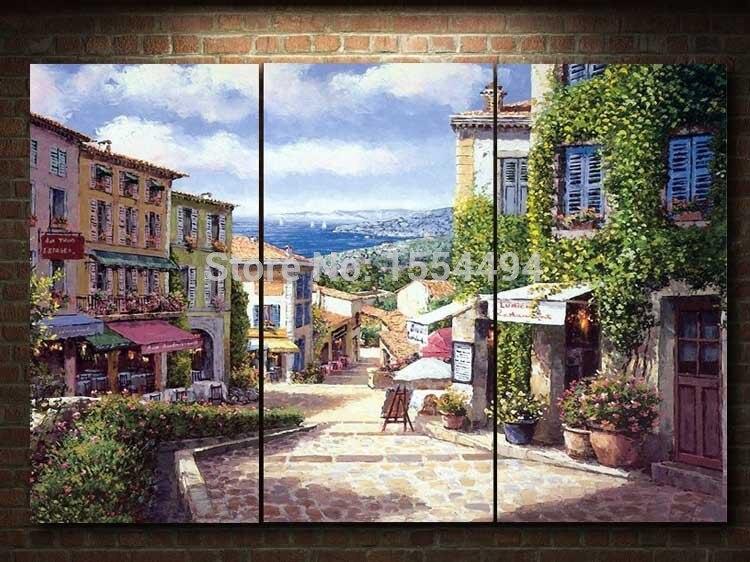 Mediterrane landschaft bilder werbeaktion shop f r for Gerahmte bilder wohnzimmer