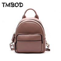 New 2017 Small Cute Backpack Shoulder Bag Women Split Leather Backpacks Girls Lady Student School Travel