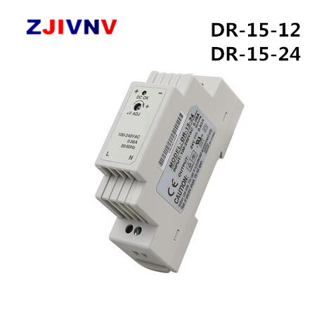 DR-15-12 /24V CE RoHS Certificated 15W Din Rail Switching Power Supply For Industry dr-15w 12v цены