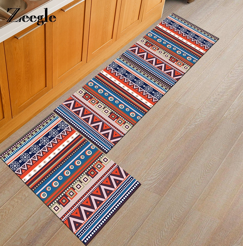 Us 7 5 44 Off Zeegle Kitchen Floor Mat Carpet For Living Room Anti Slip Welcome Foot Pad Bedroom Carpets Washable Mats For Bathroom In Carpet From
