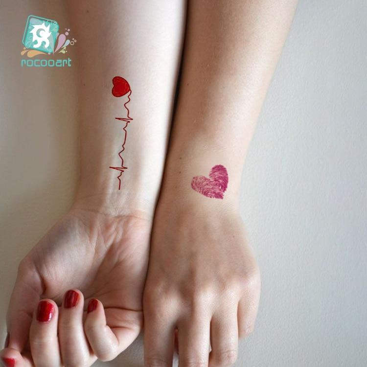 HC-254/Waterproof Tattoo Stickers Original Red Love Sexy on Hand Series Women Tattoos Fake Temporary Body art Tatoo