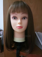 Female Model Cosmetology Manikin Hairdressing Doll Women Hairdresser Mannequin Head For Wig Hat Jewelry Display With