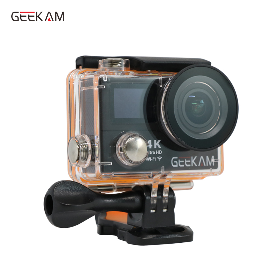 Original GEEKAM H3R H3 action camera 4K wifi Ultra HD 1080p60fps 720P120FPS pro waterproof mini cam bike video camera sport 2017 arrival original eken action camera h9 h9r 4k sport camera with remote hd wifi 1080p 30fps go waterproof pro actoin cam