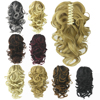 Soowee 8 Color Curly High Temperature Fiber Synthetic Hair Pony Tail Hairpiece Blonde Gray Clip In Hair Extensions Claw Ponytail 1