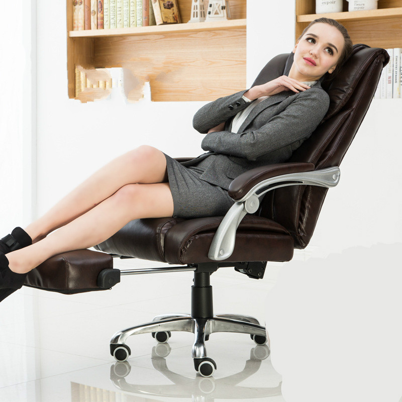 Comfortable household office computer chair lying boss chair capable of lifting rotating chair (With pedal) 240340 high quality back pillow office chair 3d handrail function computer household ergonomic chair 360 degree rotating seat