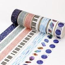 20mm x 8m Kawaii Constellation Feather Decorative Adhesive Tape Washi Tape DIY Scrapbooking Masking Tape School Office Supply