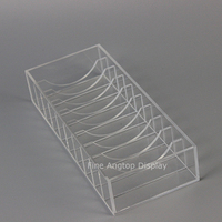 Acrylic 10 Slot Bracelet Box Jewelry Accessories Display Rack Bangle Holder Display Rack Transparent Organizer Storage