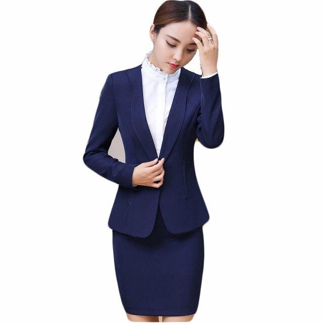 Neue 2018 Damen Business Anzuge Damen Elegante Buro Uniform Style