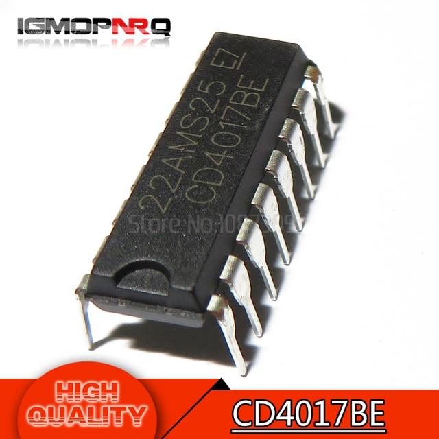 10pcs/lot CD4017 CD4017B CD4017BE 4017 DECADE COUNTER DIVIDER IC new original free shipping