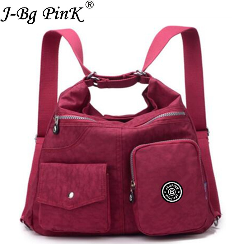 J-BG PinK Designer Handbags Fashion Waterproof Women Bag Double Shoulder Bag High Quality Nylon Female Handbag Bolsas sac A Main new fashion women bag messenger double shoulder bags designer backpack high quality nylon female backpack bolsas sac a dos