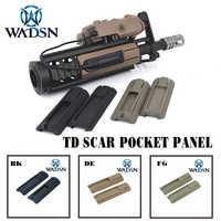 """WADSN táctico Airsoft 4.125 """"ITI TD Panel de bolsillo de la cicatriz control remoto juego de almohadillas de riel de luz para rieles de 20mm PEQ de WEX300"""
