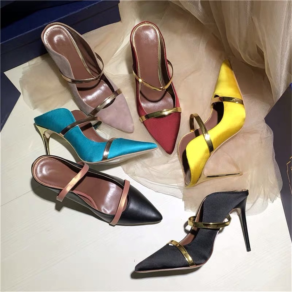 Ayakk.'ten Kadın Pompaları'de Stkehidba En Kaliteli kadın Pompaları Gerçek Ipek Deri kadın ayakkabısı Sivri Burun Yüksek Topuklu Pompalar Sapanlar Ayak Bileği kadın Sandalet'da  Grup 1