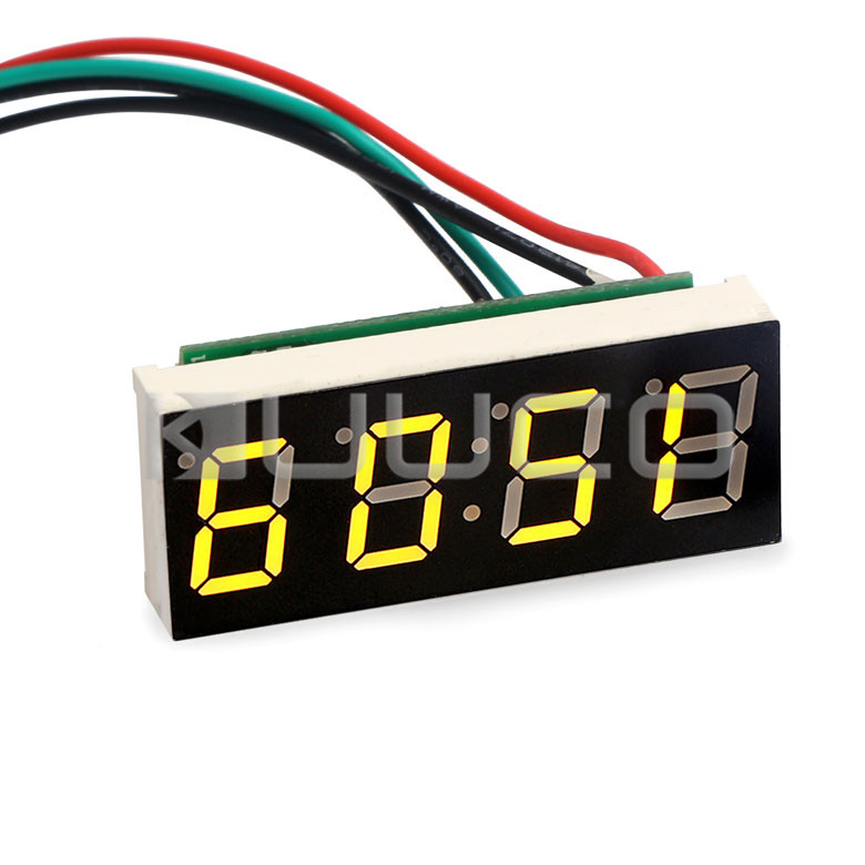 Clock/Adjustable Car Clock Green Led display Clock DC 12V 24V Digital Meter/Panel Meter DIY Time Monitor/Tester 24 hour digital clock yellow led display car clock digital meter panel meter adjustable clock dc 12v 24v diy time monitor tester