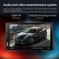 7 дюймов Bluetooth стерео аудио в Сенсорный экран автомагнитолы обратно камеры автомобиля MP3/MP4/MP5 плеер USB Поддержка для SD/MMC
