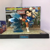 J.G Chen Street Fighter The New Challenger Chun Li PVC Figure Collectible Model Toy with Light & Sound 15cm Boxed Christmas GIFT