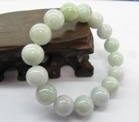 shitou 00831 BEST GIFT AMAZING Chinese Jade Green Smooth Beads Lucky Bracelet