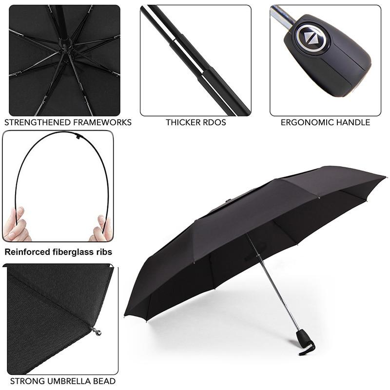 c064db8c73ea US $14.42 50% OFF  Double Layer Umbrella Rain Women Fully automatic Small  Windproof Umbrella Men 3Folding Mini Travel Umbrella Paraguas Parasol-in ...