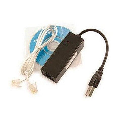 CAA Hot 56K USB External Dial Up Voice Fax Data V.92 V.90 Modem Win7 XP/Vista 64bit