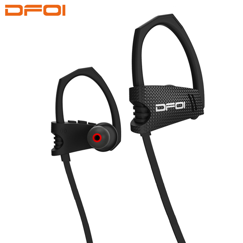 цена на DFOI wireless headphones waterproof bluetooth headphone sports wireless earphones bluetooth headset with microphone for earphone