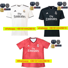 Free patches EUR 2018 2019 Top Best Thai AAA Qualit Full Realed Madrided adult  Soccer jersey 18 19 Home Away 3RD Shirt Free ship 7dc770f77