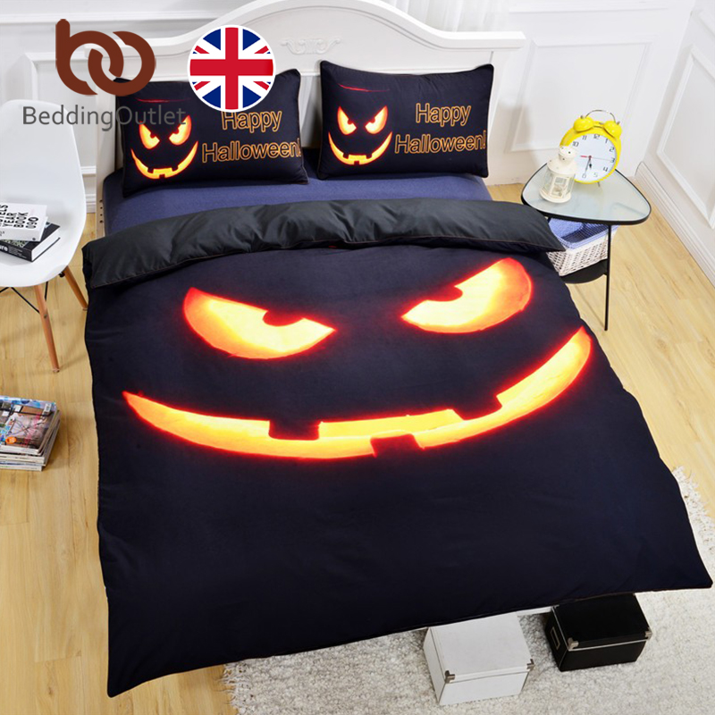 beddingoutlet happy halloween bedding set shiny duvet cover with pillowcases super soft quilt cover set 3pcs uk size hote sale in bedding sets from home